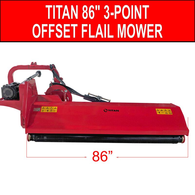 """86"""" 3-Point Offset Flail Ditch Bank Mower"""