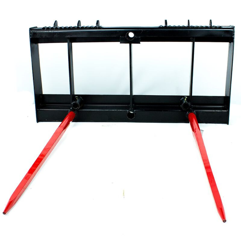 HD Skid Steer Universal Hay Bale Spear Attachment 4,000 lbs Capacity (dual spears)