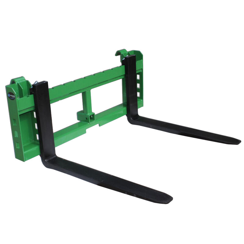 "42"" Pallet Fork Attachment with 2"" Trailer Receiver Hitch fits John Deere Loader"