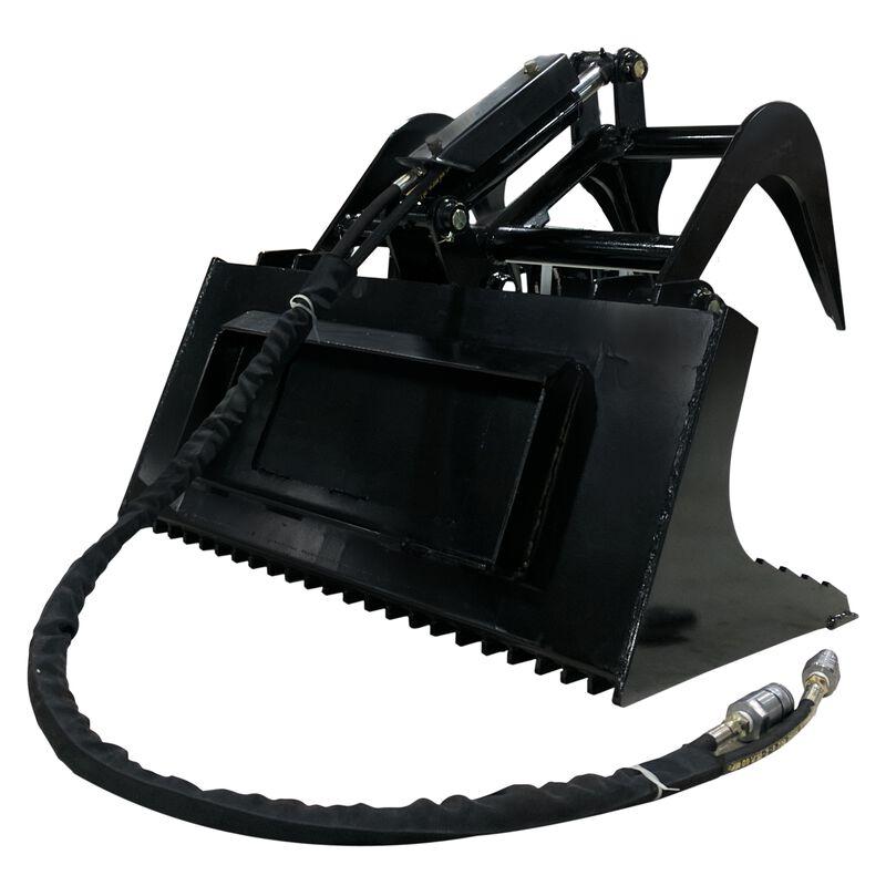 "36"" Mini Skid Steer Rock Bucket Grapple Attachment"