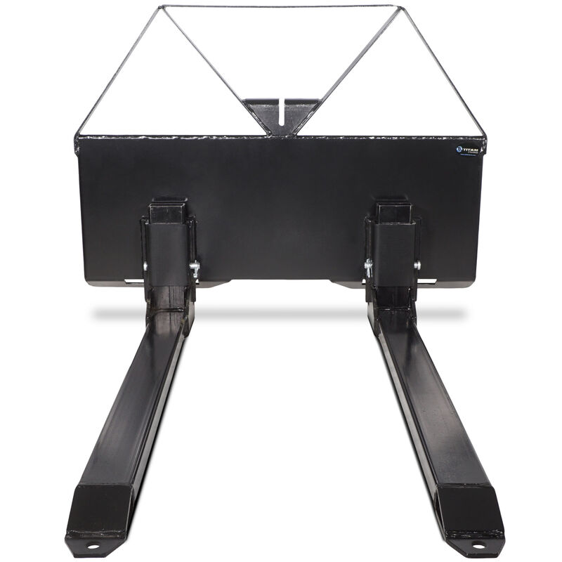 "Titan 46"" Pallet Fork Attachment Skid Steer Quick tach Mount 2600 lb Capacity"