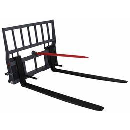 """United Hay Bale Spear Pallet Fork Skid Steer Quick Attach Attachment 48"""" Blades"""