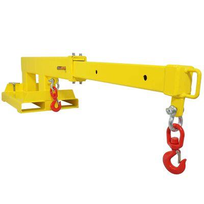 Fork Mounted Crane Jib w/ 2 Hooks Truss