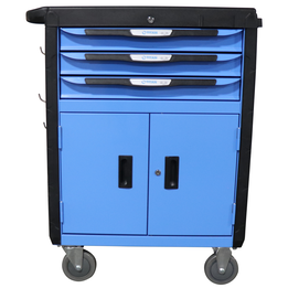 """32"""" 3 Drawer Mobile Tool Chest Cabinet With Double Doors"""