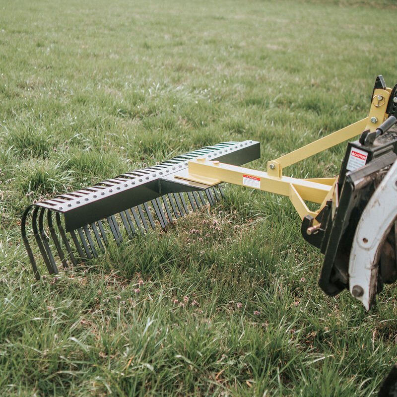 5-Ft Landscape Rake For Category 1, 3 Point | Quick Hitch Compatible