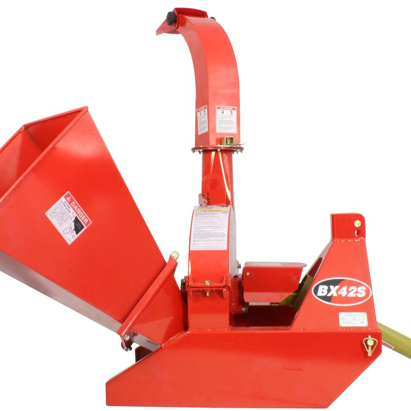 """3-Point Attachment Wood Chipper For Tractors Up To 40HP, Titan BX42 PTO 4""""x10"""""""
