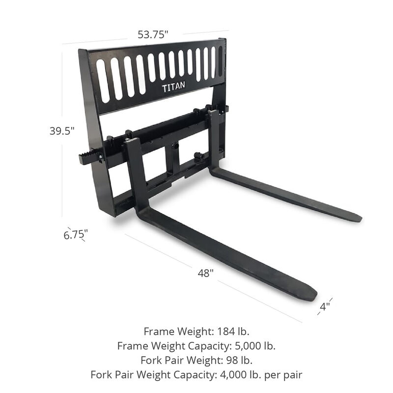 Pro-Duty Pallet Fork Attachment with 48-in Fork Blades