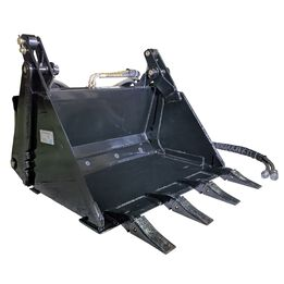 "35"" 4-In-1 Combo Mini Skid Steer Bucket w/ Teeth"