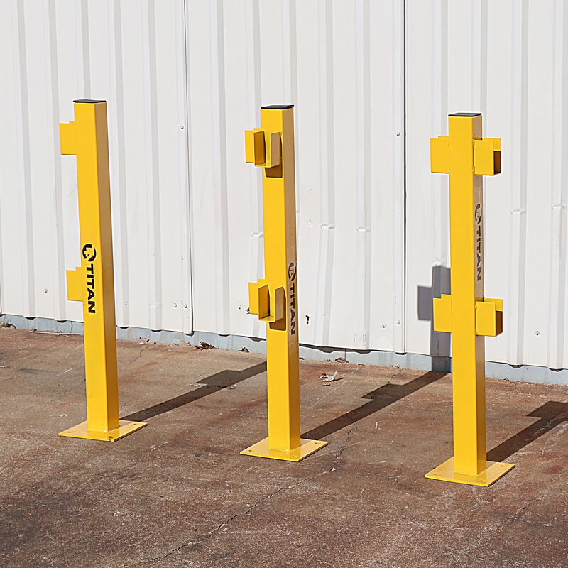 In Line Post for Modular Rail Guard System