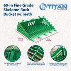 60-in Fine Grade Skeleton Rock Bucket With Teeth Fits John Deere Loaders
