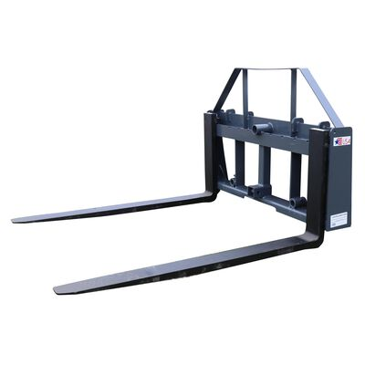 "UA 48"" Pallet Fork Frame Attachment with Headache Rack and Hitch 