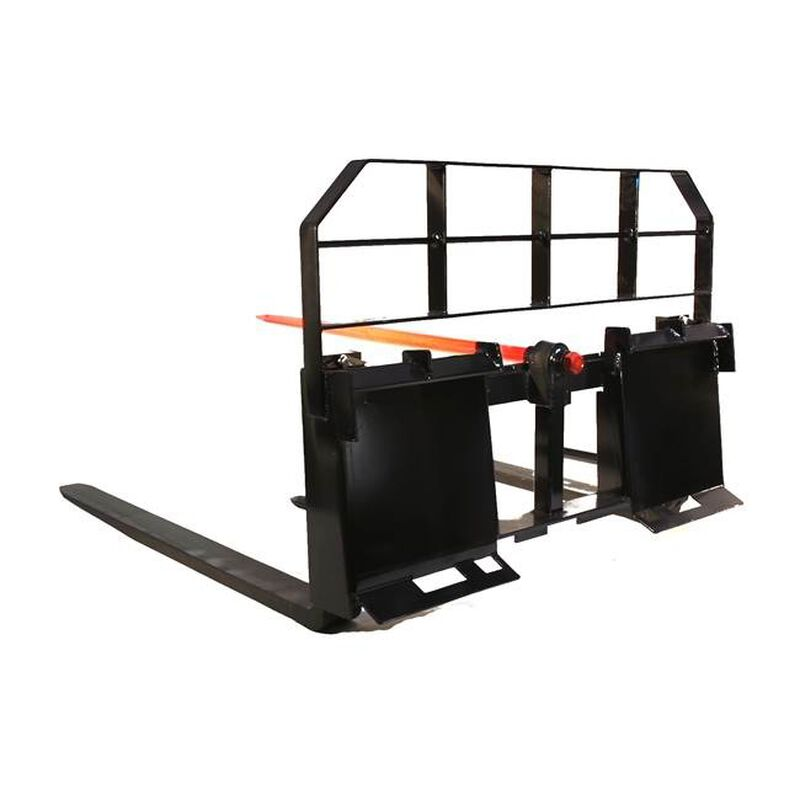 """60"""" Pallet Fork Hay Bale Spear Attachment 5500 lb Capacity Skid Steer"""