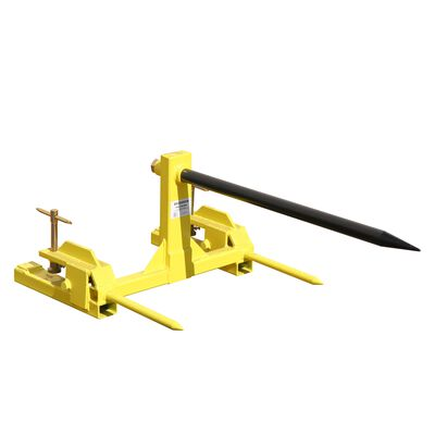Clamp on Hay Spear Attachment | Single Spear | 2 Stabilizers