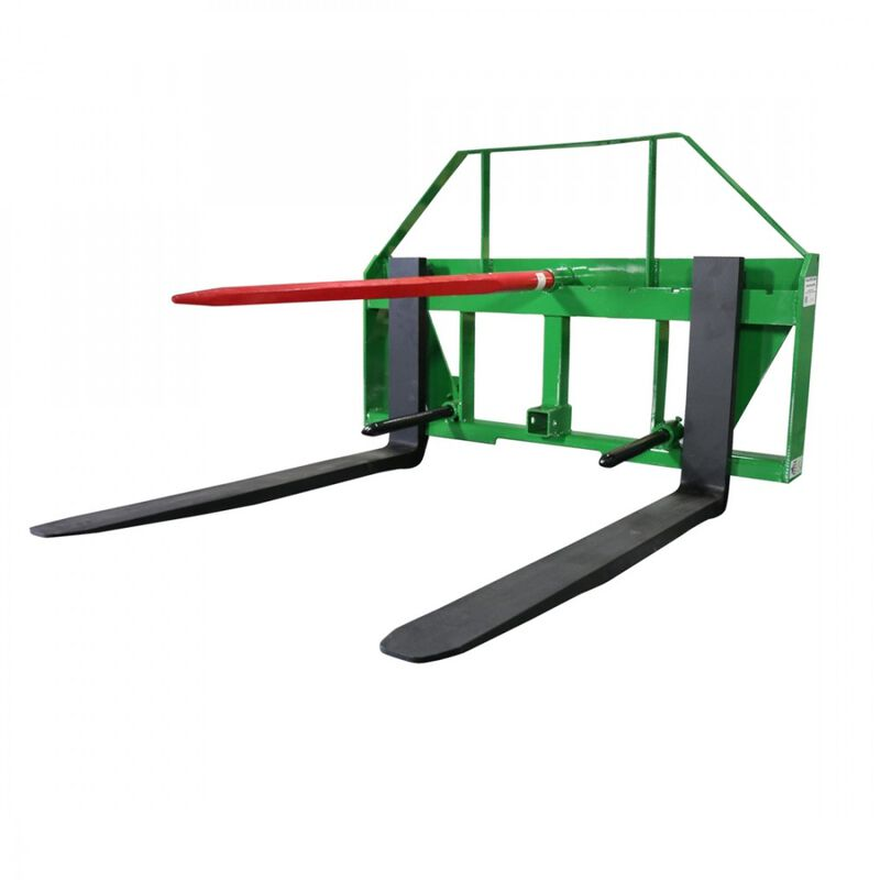 UA Made In The USA Global Pallet Fork Hay Frame Attachment With Rack And Receiver Hitch