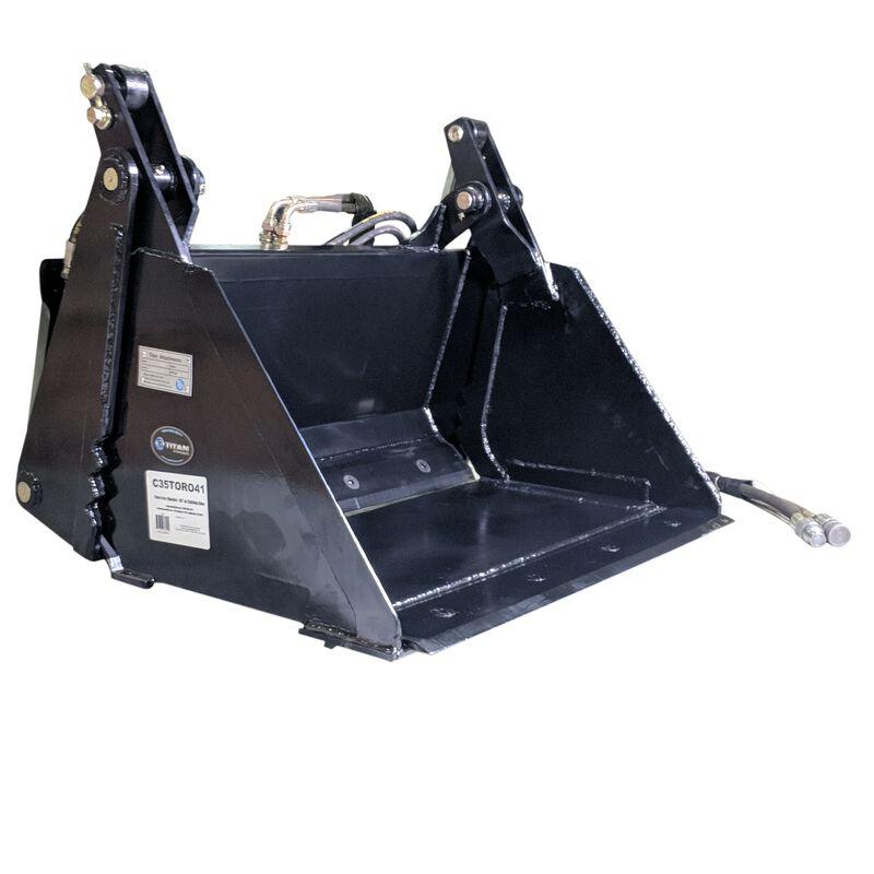 """35"""" 4-In-1 Combo Mini Skid Steer Bucket w/ Cutting Edge"""