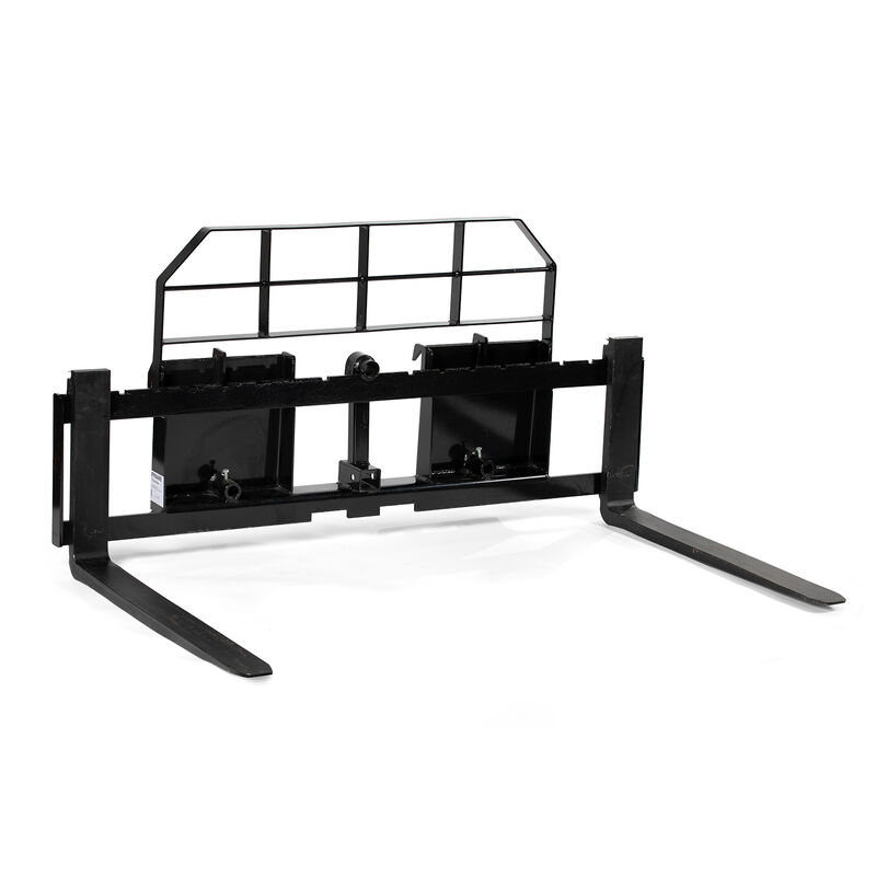 Titan 72-in XL Pallet Fork Frame Attachment with Receiver Hitch and 48-in Fork Blades