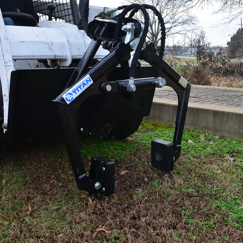 Hardscape Grapple Claw for Skid Steers Quick Tach