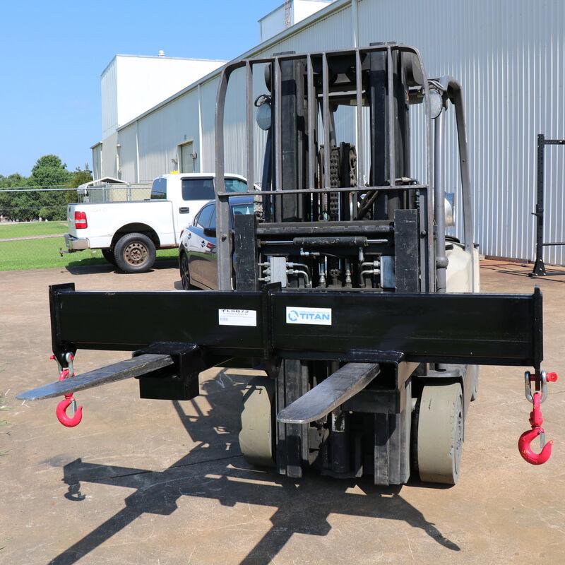 """72"""" Forklift Spreader Beam – 10,000 LB Capacity"""