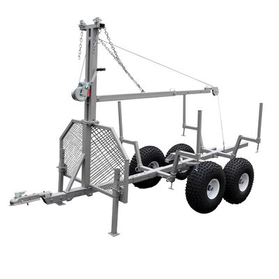 Tow Behind ATV Timber Trailer with Manual Crane