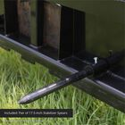 """HD Pallet Fork Attachment, 39"""" Hay Spear and Stabilizers"""