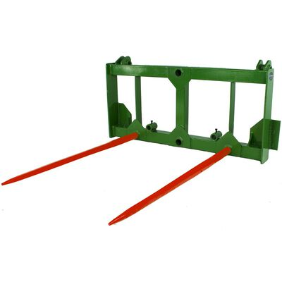 "Hay Spear Attachment w/ 2 49"" Spears fits John Deere loaders"