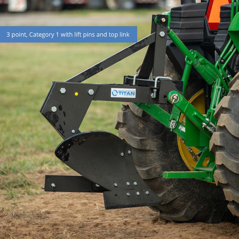 Single Bottom Turn Plow – Cat 1, 3-Point Hitch