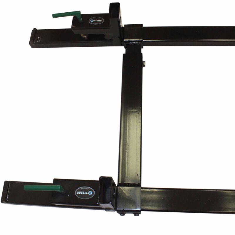 "43"" Clamp On Pallet Forks 4,000 lb Capacity w/ Stabilizer Bar"