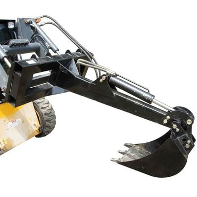 Skid Steer Fronthoe Excavator Attachment With Optional Bucket
