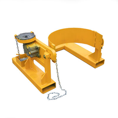 Fork Mounted Tilting 55 Gallon Drum Dumper | 800 LB Capacity | Titan Attachments