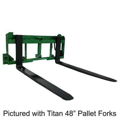 "UA Made in the USA 60"" Pallet Fork Hay Bale Spear Attachment w/ Hitch Fits JD"