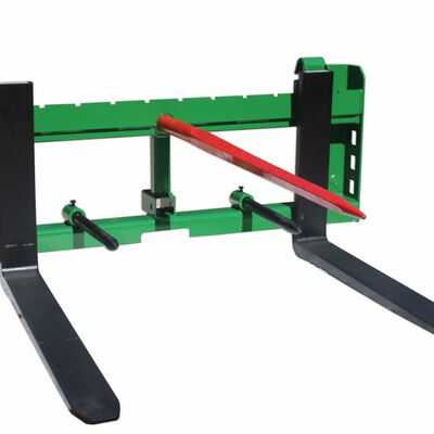 "42"" Pallet Fork Hay Bale Spear Attachment w/ Trailer Hitch fits John Deere"