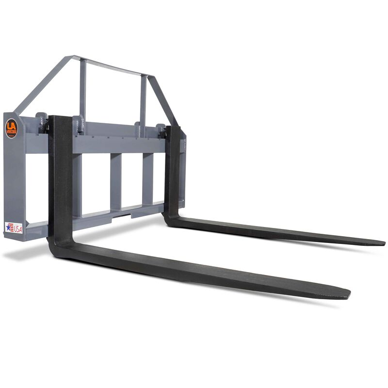"""UA Made in the USA 42"""" Skid Steer Pallet Fork Attachment with Blades"""