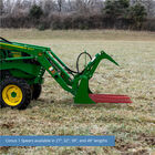 48-in Tine Bucket Attachment with 49-in Hay Bale Spears Fits John Deere Loaders