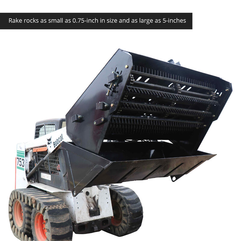 "66"" Hydraulic Skid Steer Landscape Rake"