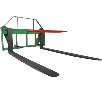 "60"" Pallet Fork Hay Bale Spear Attachment Fits John Deere Global Loaders."
