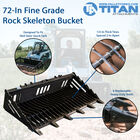 72-in Fine Grade Skeleton Rock Bucket w/ Teeth For Skid Steers