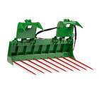 72-in Tine Bucket Attachment with 32-in Hay Bale Spears Fits John Deere Loaders