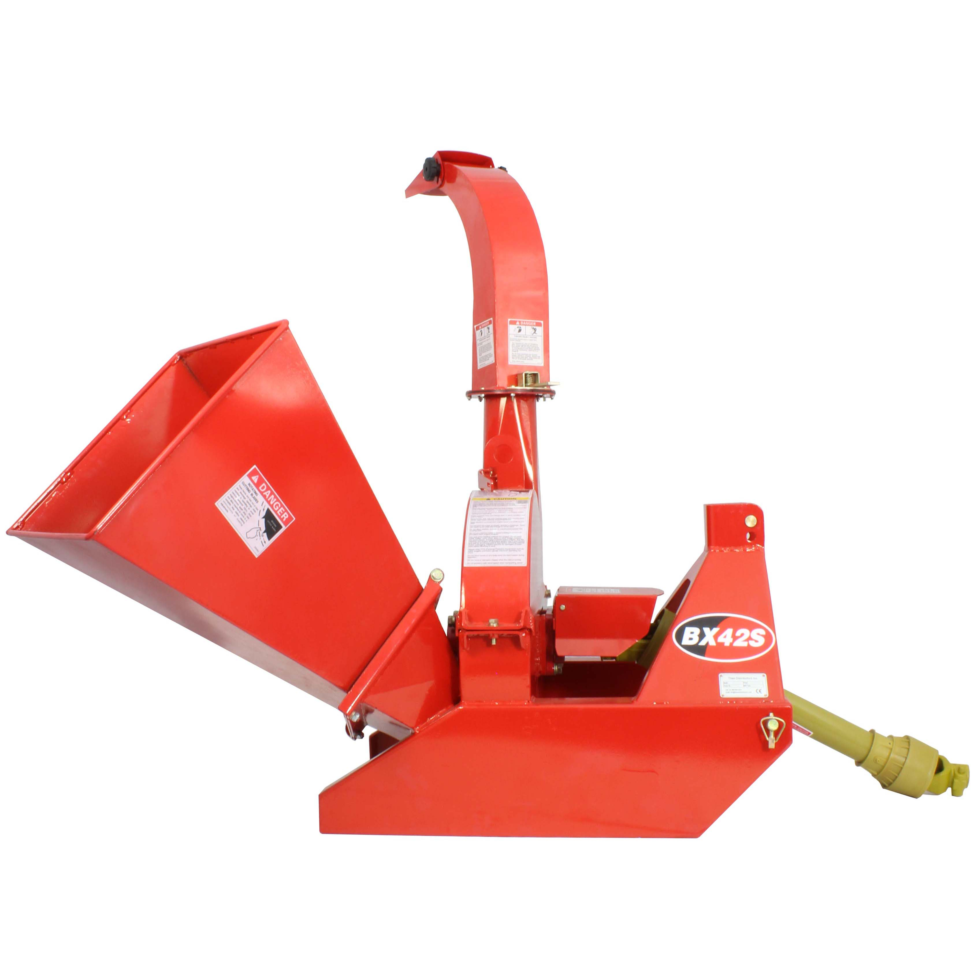 3 Point Attachment Wood Chipper For Tractors Up To 40HP, Titan BX42 PTO 4x10
