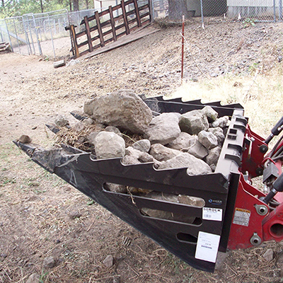 Skid Steer Dirt and Rock Bucket Attachments